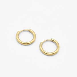 Basic hoops 10 mm - 2 mm thick | goud