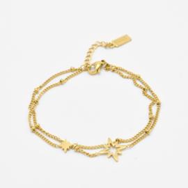 Double bracelet North stars | Goud