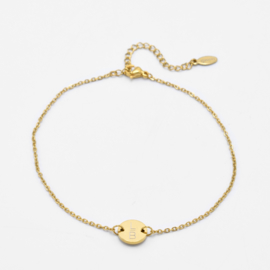 Single disc anklet | basic chain | Goud