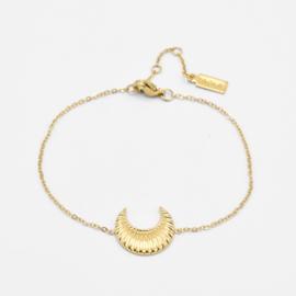 Moon bracelet | Goud