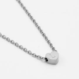 Tiny heart necklace | 1 heart | Zilver