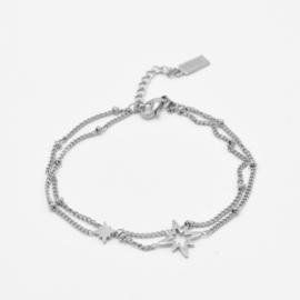 Double bracelet North stars | Zilver