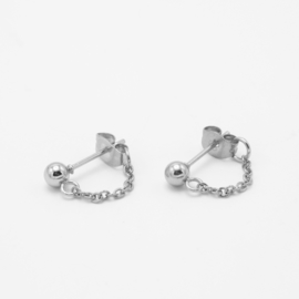 Chain studs small | zilver