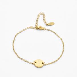Single disc bracelet | basic chain | Goud