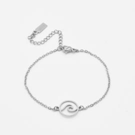 Wave bracelet | Zilver
