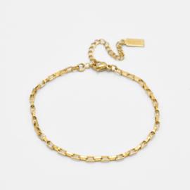 Box chain bracelet | goud