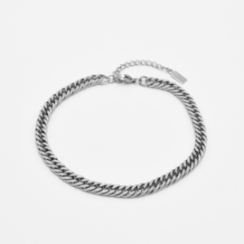 Chunky chain anklet | Zilver