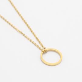 Circle necklace | Goud