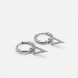 Open spike hoops | Zilver