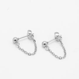 Chain studs Medium | zilver