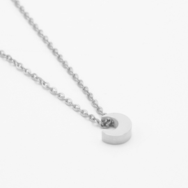 Tiny moon necklace | zilver