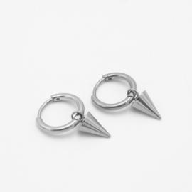 Spike hoops | zilver