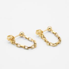 Chunky chain studs | Goud