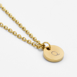 Initial coin necklace | 1 coin | Goud