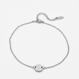 Single disc anklet | basic chain | Zilver