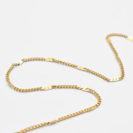 Shimmering chain anklet | Goud