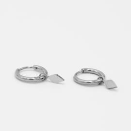 Rhombus hoops   zilver
