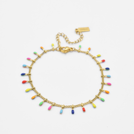 Rainbow bar bracelet   Goud