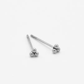 Triple dot studs 3 mm | zilver