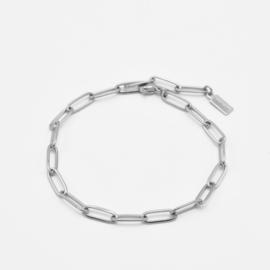 Paperclip chain bracelet | Zilver