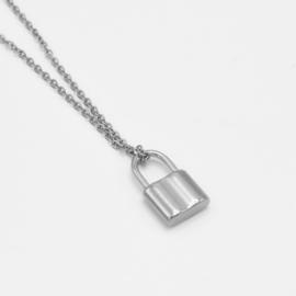 Basic lock necklace | Zilver