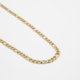 Figaro chain necklace | goud