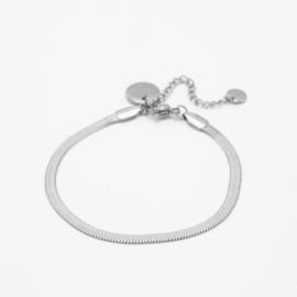 Snake chain bracelet 3 mm | zilver