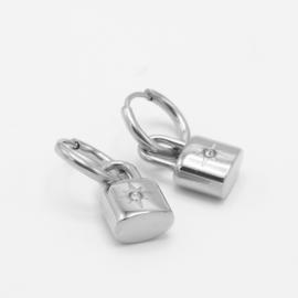 Lock hoops | Zilver