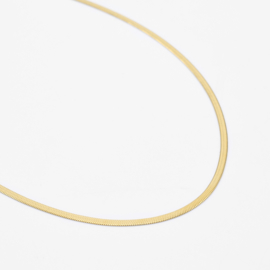 Snake chain necklace 2 mm | Goud