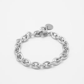 Chunky oval chain bracelet | zilver
