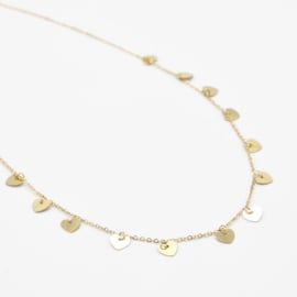 Multi heart necklace | Goud