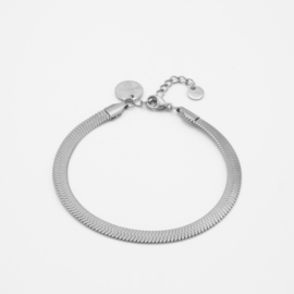 Snake chain bracelet 5 mm | Zilver