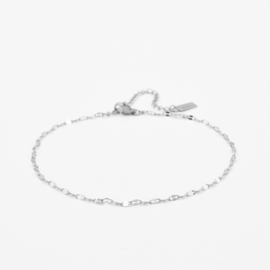 Lip chain anklet   Zilver