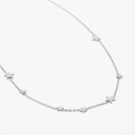 Multi star necklace | Zilver