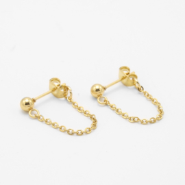 Chain studs Large | Goud
