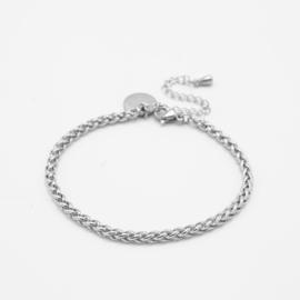 Braided bracelet 3 mm | silver