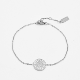 Sun coin bracelet | Zilver