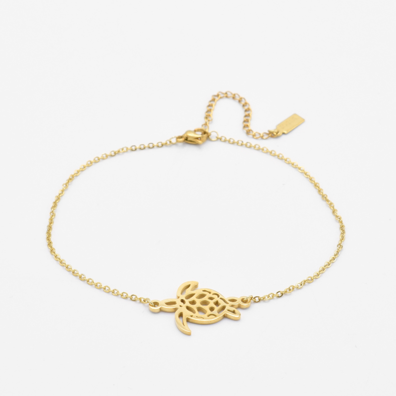 Turtle ankle bracelet | Goud
