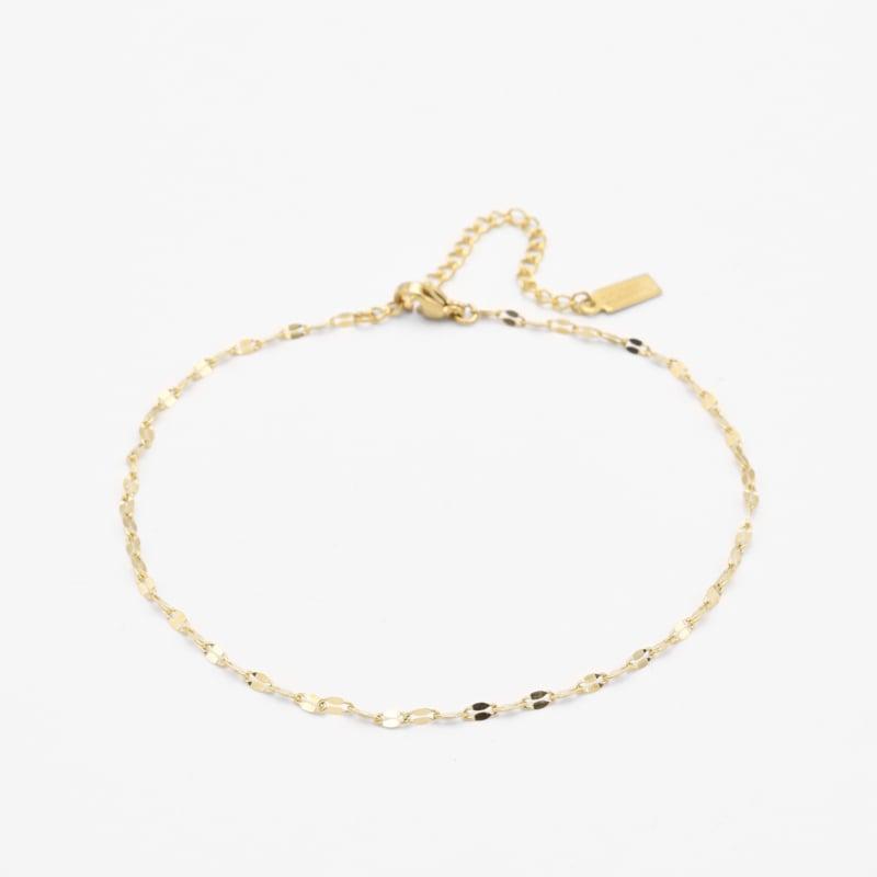 Lip chain anklet | Goud