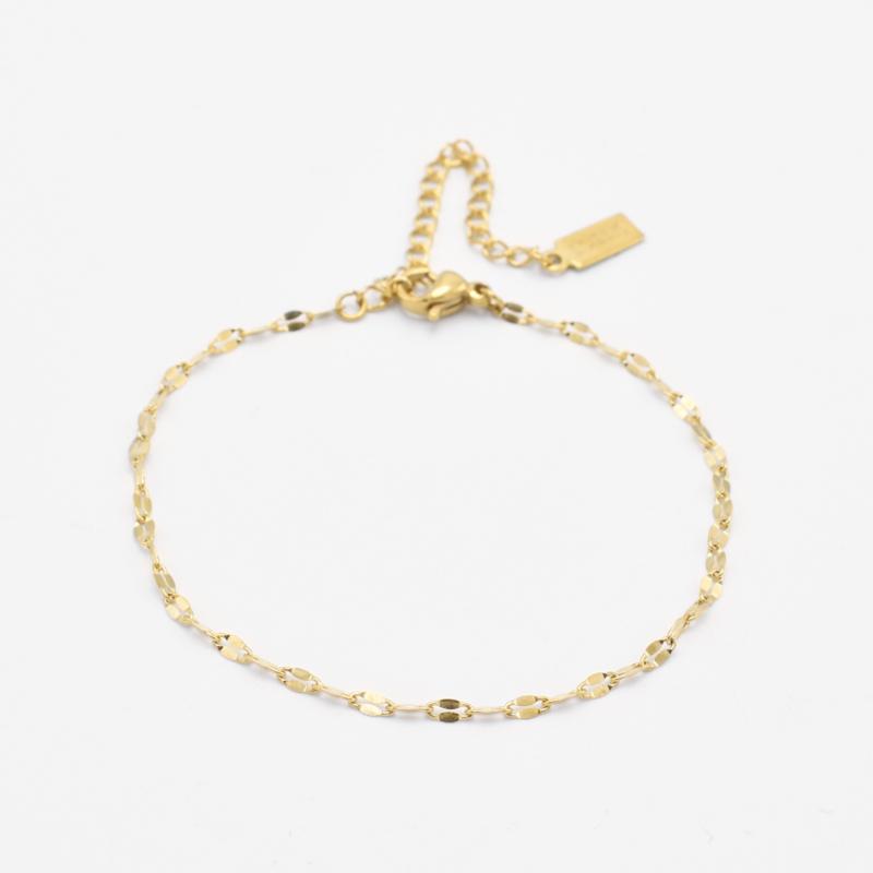 Lip chain bracelet | goud