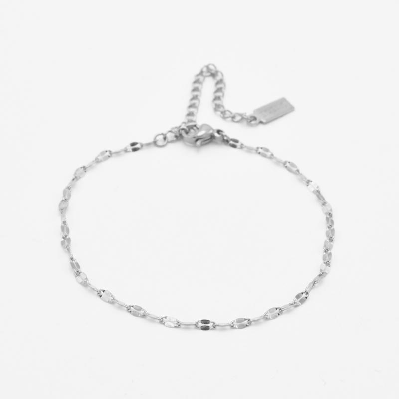 Lip chain bracelet | zilver