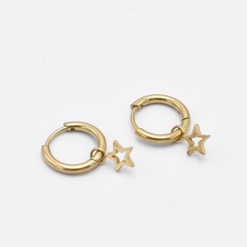Open star hoops | goud