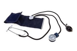 Sphygmomanometer met stethoscoop