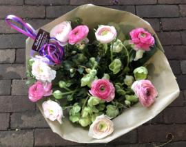 Boeket ranonkels roze