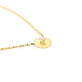 Gouden collier met 0.15ct Diamant