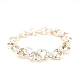 Zilveren schakelarmband | Uniseks