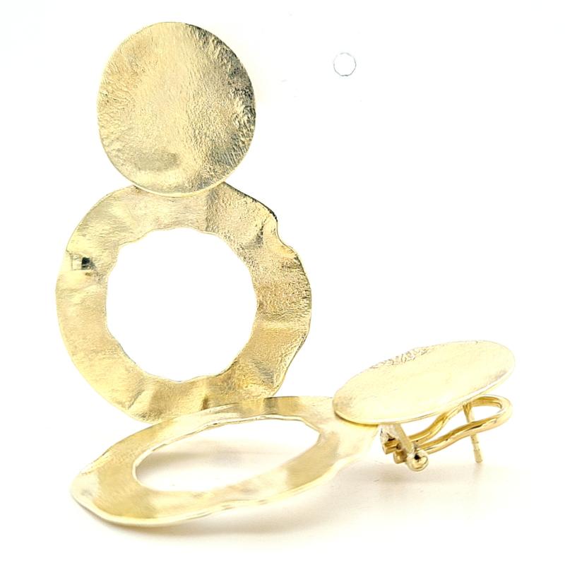 Big and Bold - Gouden Oorbellen