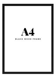Fotolijst + foto: Houten zwart frame
