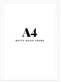Fotolijst + foto: Houten wit frame