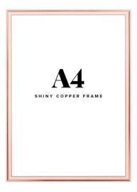 Fotolijst + foto: Aluminium koper frame
